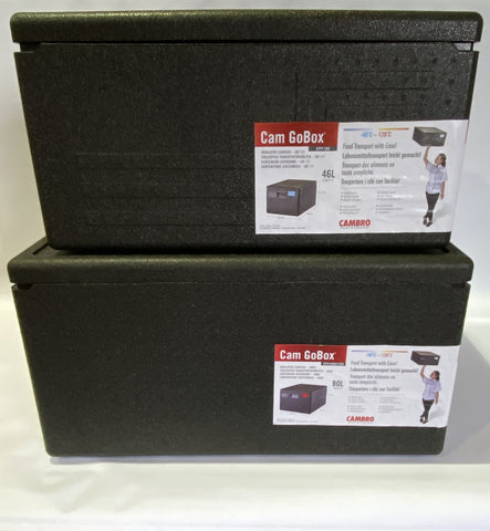Cambro GoBoxes 2 Pack -  EPP Boxes 46 & 80 litre Thermal Insulted Delivery Boxes EPP4060/EPP180