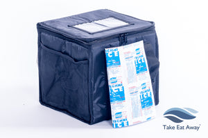 *T19H Food Delivery Bags with re-useable heat pad-30 litres - extra heat for Deliveries