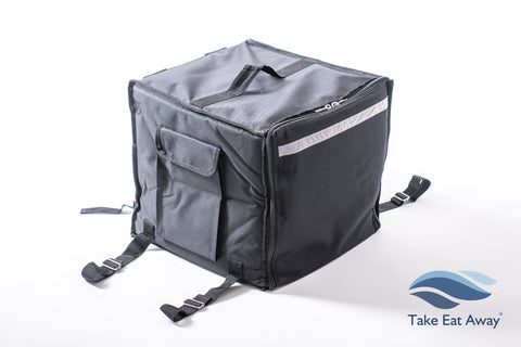 "*T18 Backpack Delivery Bag - Fastens to Bike/Scooter - 15"" Pizza Box Deliveries Rucksack"