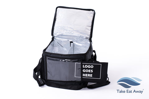 Insulated Cool Delivery Bag Sleeve for Logo-24 litre - Divider & Shoulder Strap Cold Food Deliveries Bags C161