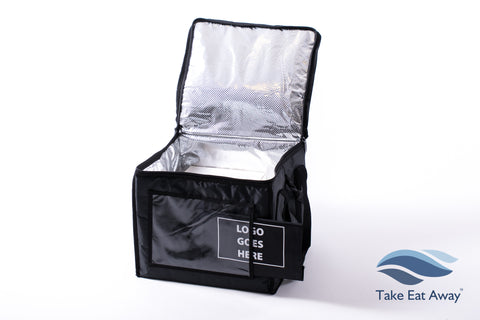 Insulated Cool Delivery Bag- Sleeve for Logo- 51 litres & Carry Shoulder Strap Cold Food Deliveries C171