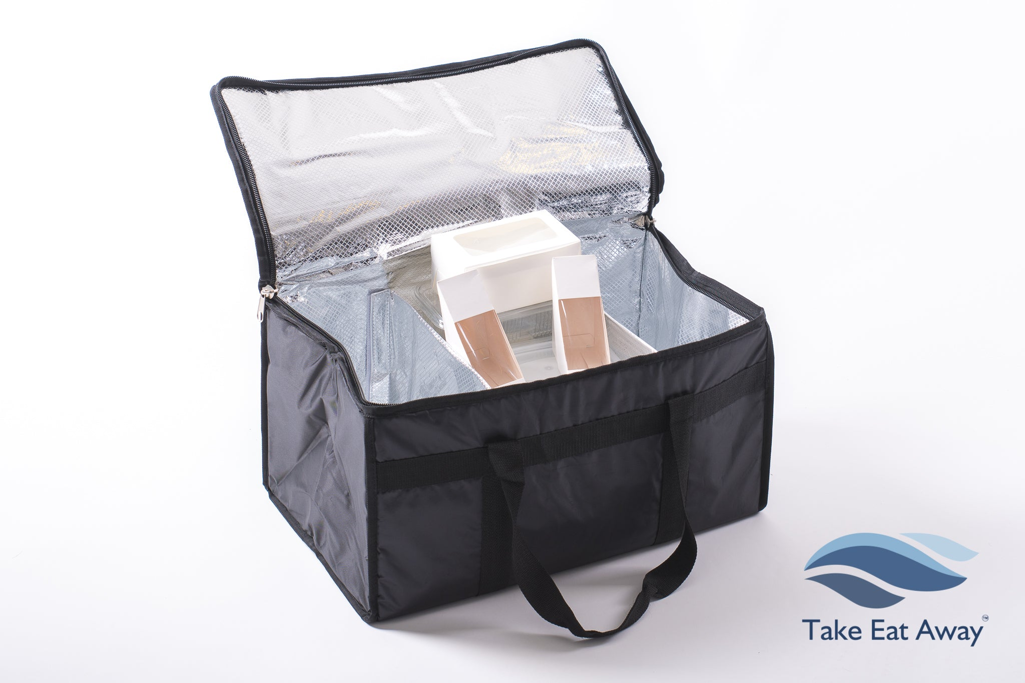 Insulated Cool Food Delivery Bag-39 litres with Dividers Catering Deliveries Bags Extra Large C20