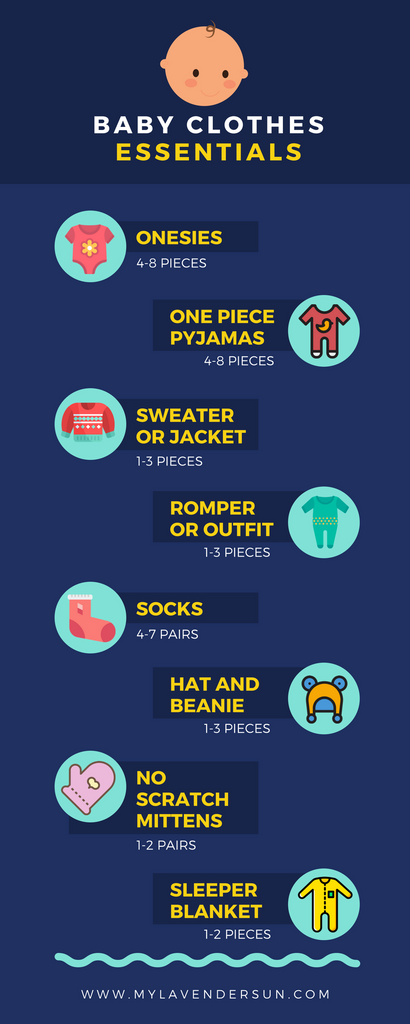 8 essential baby clothes infographic