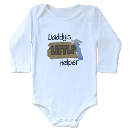 Daddy'S Little Helper Onesie