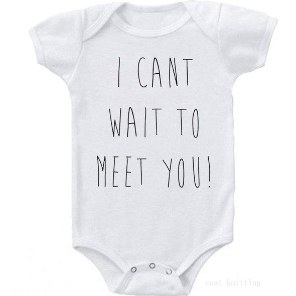 I Can'T Wait To Meet You Onesie