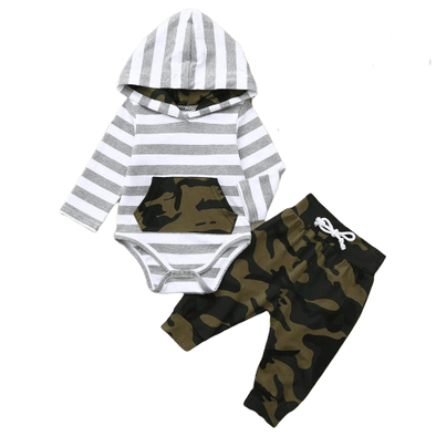 Camo Stripe Baby Outfit