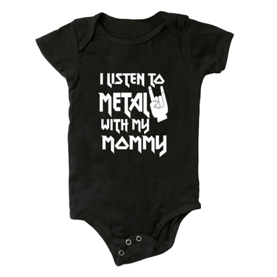 I Listen To Metal With Mommy Onesie