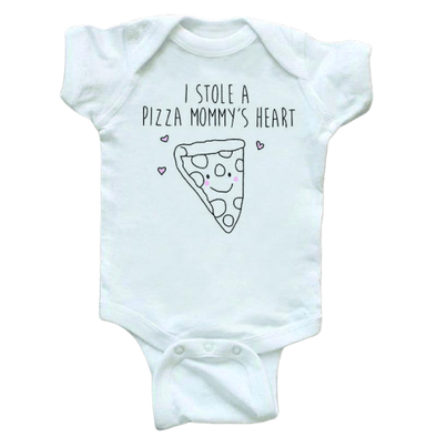 I Stole A Pizza Mommy's Heart Onesie