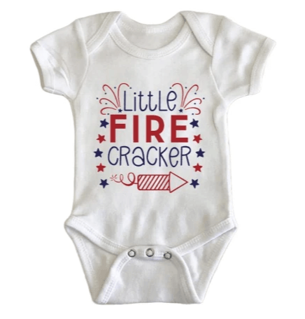 Little Fire Cracker Onesie