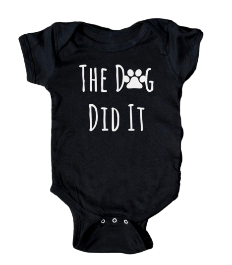 The Dog Did It Onesie