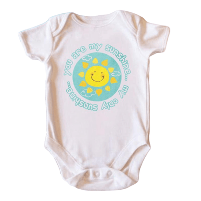 You Are My Sunshine My Only Sunshine Onesie