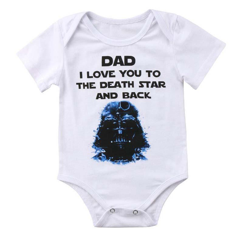 b62c6658332a Dad I Love You To The Death Star And Back Onesie | Lavendersun