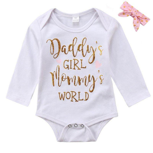 Daddy Girl Mommy's World Onesie