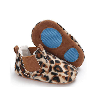 Furry leathers baby boots