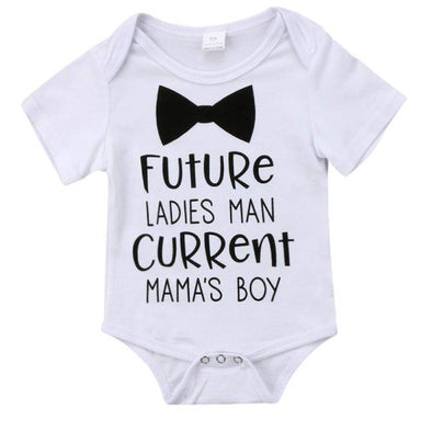 Future Ladies Man Current Mama's Boy Onesie