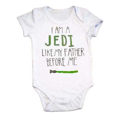 I Am A Jedi Like My Farther Before Me Onesie