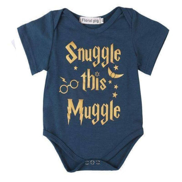 Blue Snuggle This Muggle Onesie