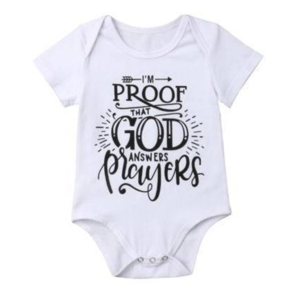 I'm Proof That God Answer Prayers Onesie