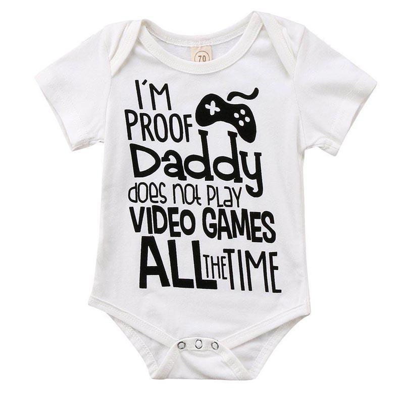 I/'m Proof Dad Doesn/'t Play Video Games All The Time Baby Onesie\u00ae