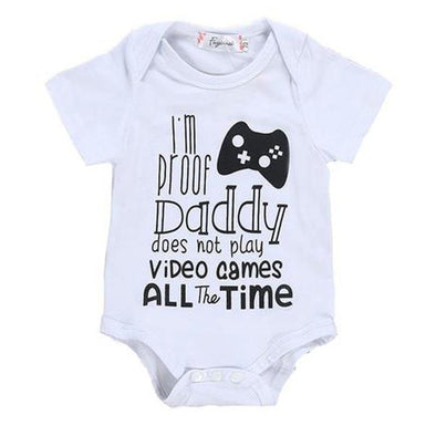 I'm Proof Daddy Does Not Play Video Games All The Time Onesie