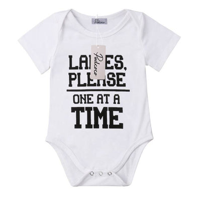 Ladies Please One At A Time Onesie