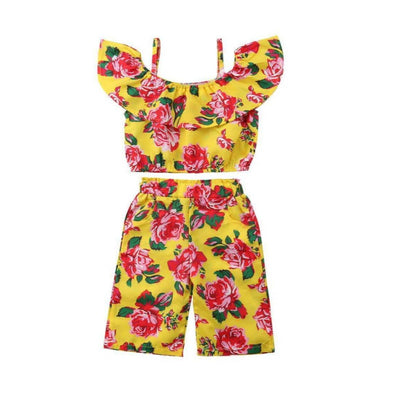 Lemon Flowered Baby Outfit