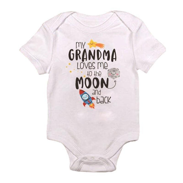 My Grandma Loves Me To The Moon And Back Onesie