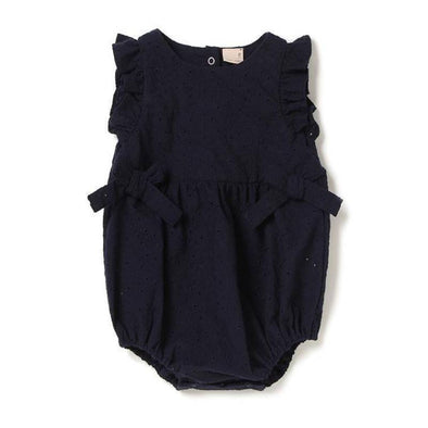 Navy Angelic Bow Romper
