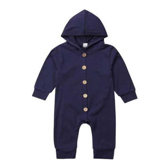 Navy Hooded Pajamas