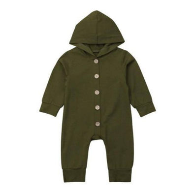 Olive Green Hooded Pajamas