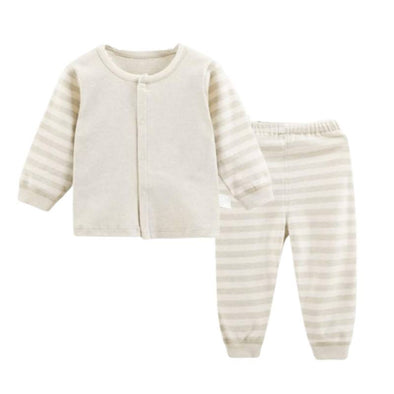 Organic Striped 2 Piece Baby Outfit