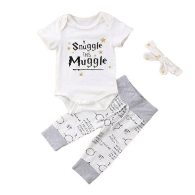 Plain Snuggle This Muggle Baby Outfit