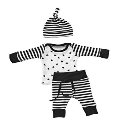 Stripey Baby Outfit