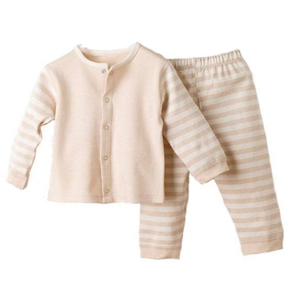 Stripey Organic Pyjamas Set