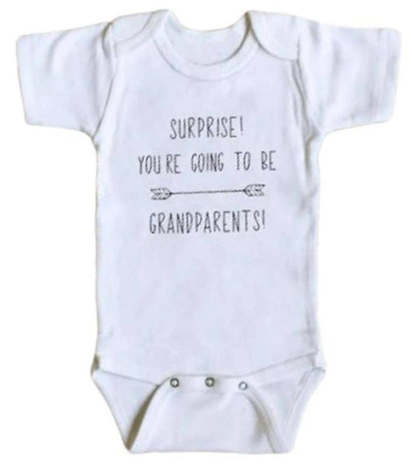 Surprise! Youre Going To Be Grandparents Onesie
