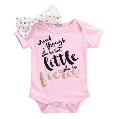 And Though She Be But Little She Is Fierce Onesie-onesie-Lavendersun