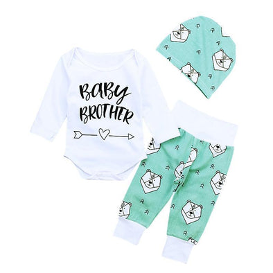Baby Brother Bear 3 Piece Set-outfit-Lavendersun