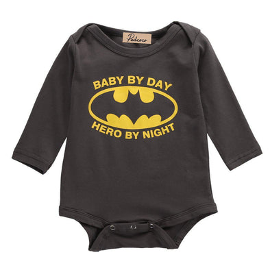 Baby By Day Hero By Night Onesie-onesie-Lavendersun