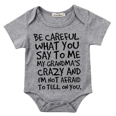 Be Careful What You Say To Me Onesie-onesie-Lavendersun
