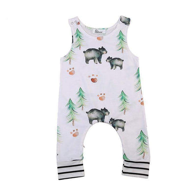 Bear In The Woods Romper-romper-Lavendersun