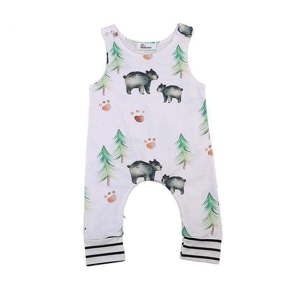 Bear in the woods romper - Lavendersun