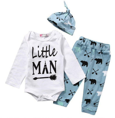 Blue Little Man 3 Piece Set-3 piece set-Lavendersun