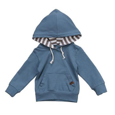 Blue Striped Hoodie-sweater-Lavendersun