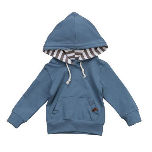 Blue Striped hoodie sweater product image - Lavendersun