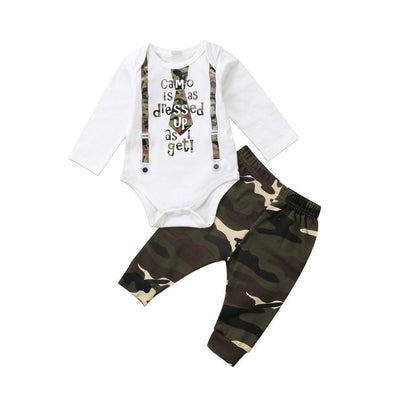Camo Is As Dressed Up As It Get 2 Piece Set-3 piece set-Lavendersun