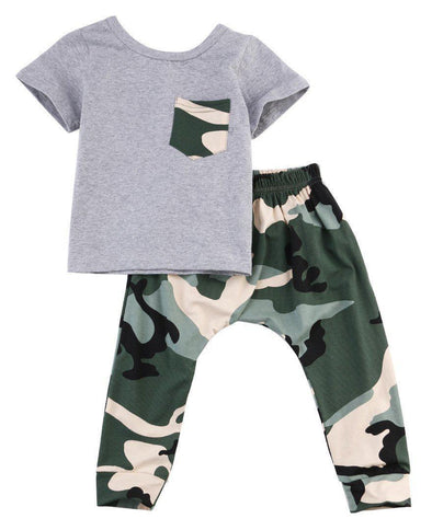 Camouflage kid outfit product image - Lavendersun