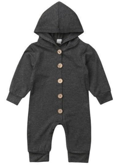 Charcoal Grey Hooded Pajamas-pajamas-Lavendersun