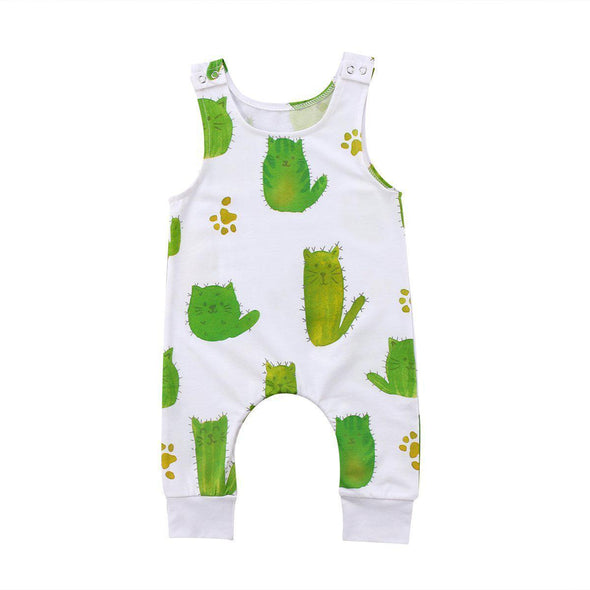 Cheeky Cactus Kitty romper product image - Lavendersun