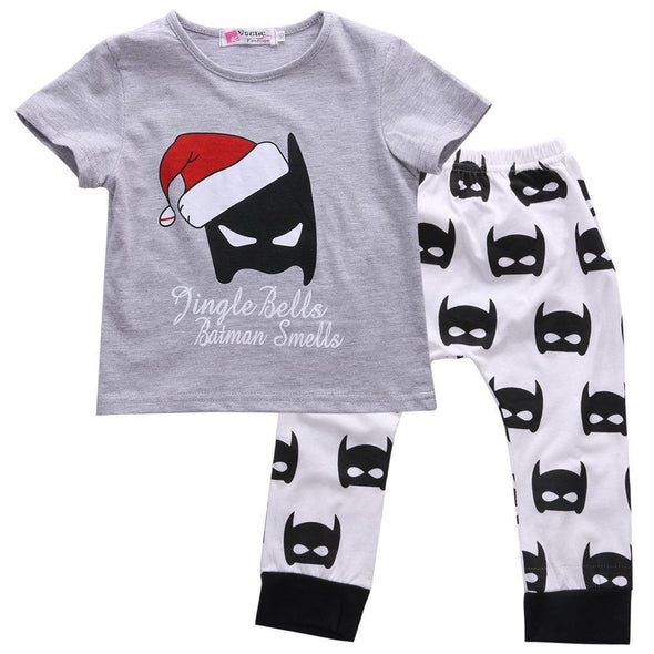 Christmas Batman 2 Piece Set-outfit-Lavendersun