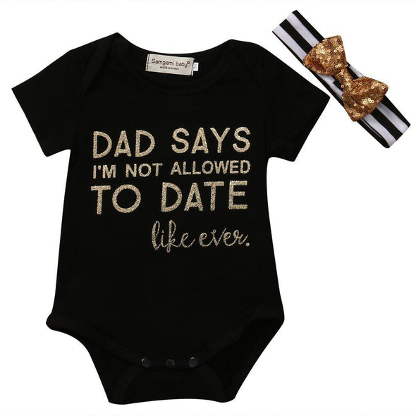 Dad says i'm not allowed to date like ever onesie product image - Lavendersun